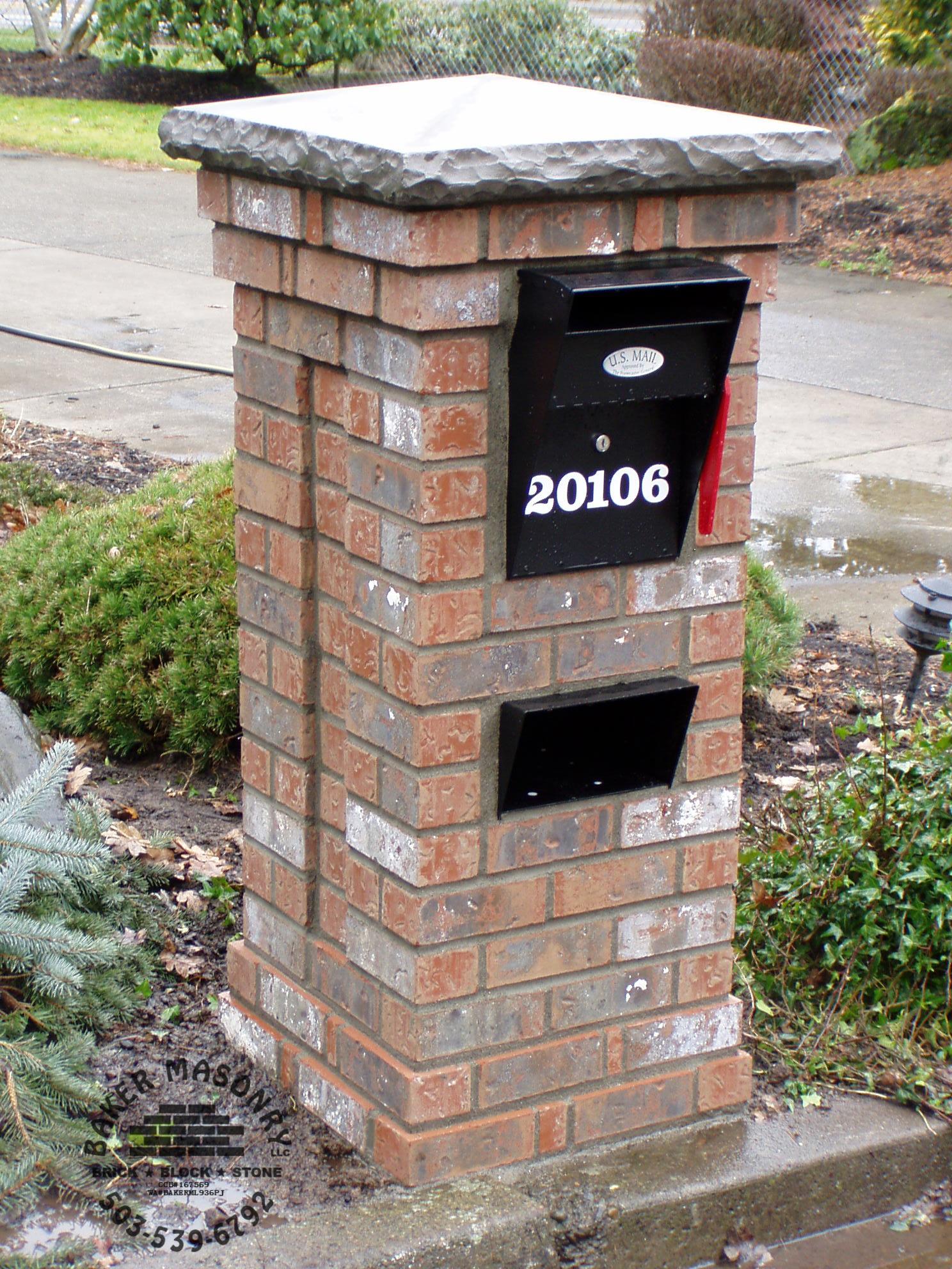 Stone Mailbox Pillars : Images about stone pillar on pinterest brick