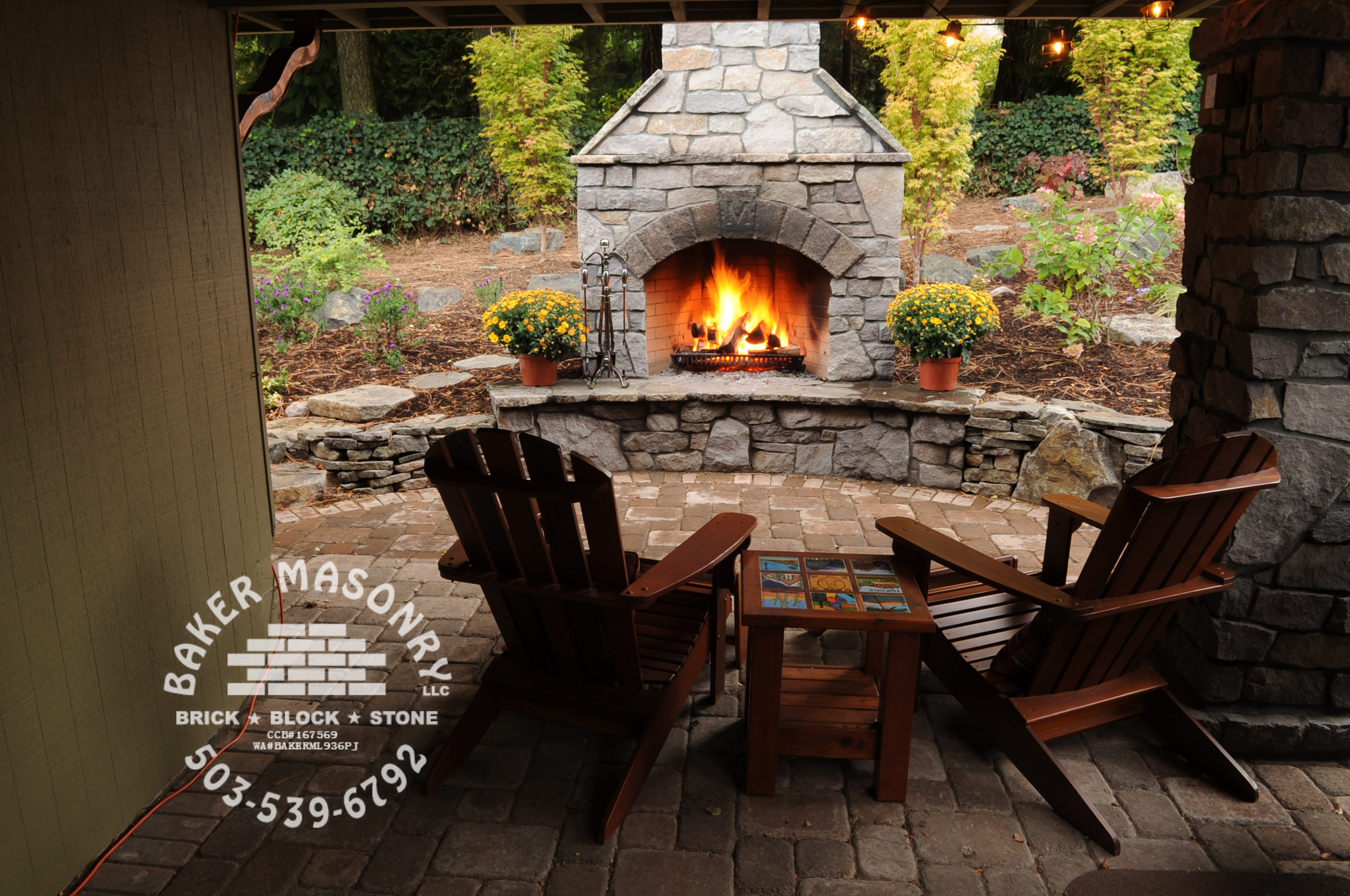 Http Www Bakermasonry Com Stone Outdoor Fireplaces Html